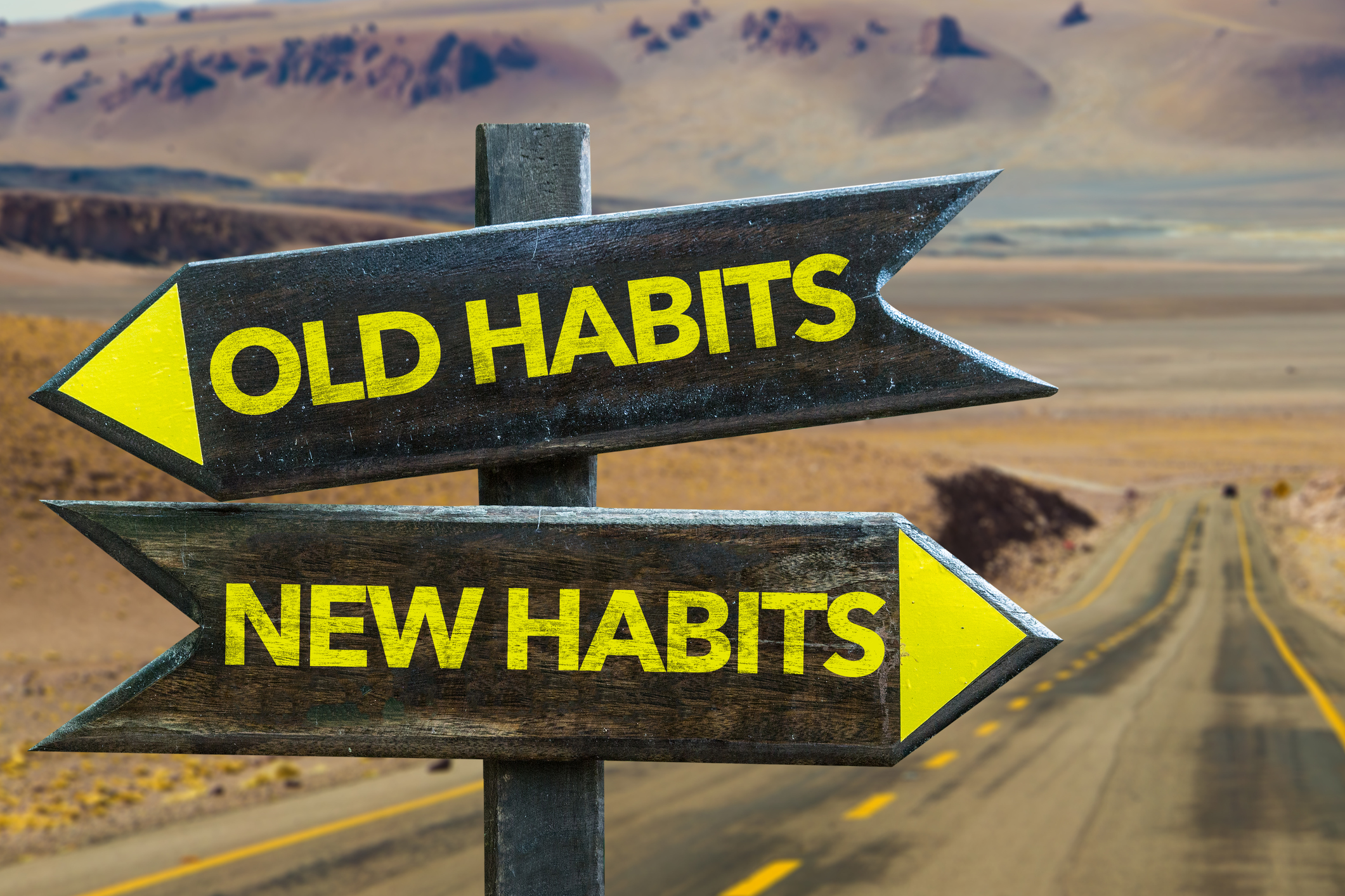 New and old habits Signpost
