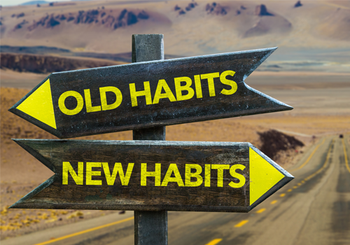 Old Habits and New Habits Sign